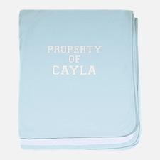Property of CAYLA baby blanket