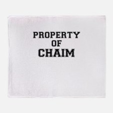 Property of CHAIM Throw Blanket