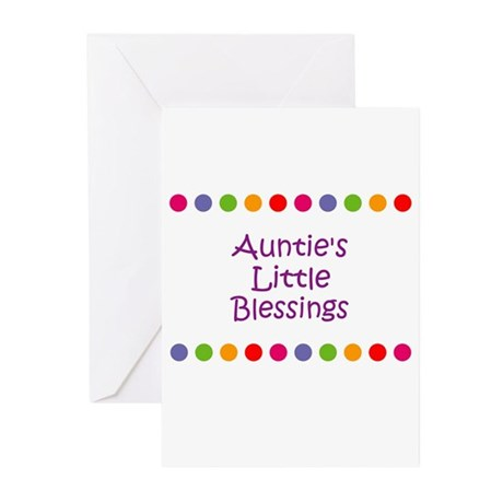 Auntie's Little Blessings Greeting Cards (Pk of 1