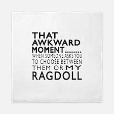 Awkward Ragdoll Cat Designs Queen Duvet