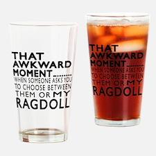Awkward Ragdoll Cat Designs Drinking Glass