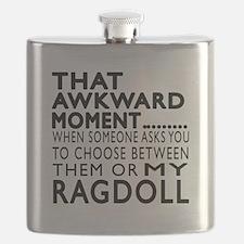 Awkward Ragdoll Cat Designs Flask