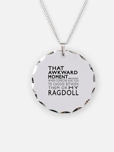 Awkward Ragdoll Cat Designs Necklace