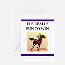 Horse racing joke Greeting Cards