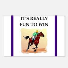 Horse racing joke Postcards (Package of 8)