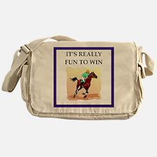 Horse racing joke Messenger Bag