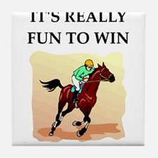Horse racing joke Tile Coaster