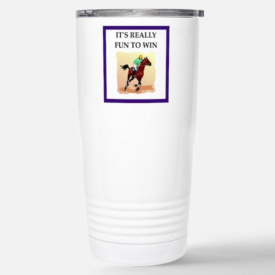 Horse racing joke Travel Mug