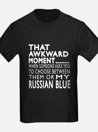 Awkward Russian Blue Cat Designs T