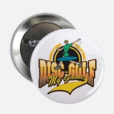 """Disc Golf My Game 2.25"""" Button (10 pack)"""