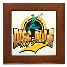 Disc Golf My Game Framed Tile