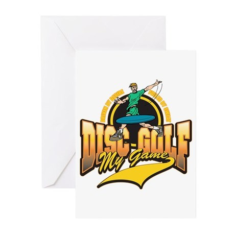 Disc Golf My Game Greeting Cards (Pk of 10)