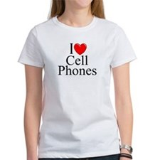 """I Love (Heart) Cell Phones"" Tee"
