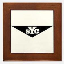 Yenko Super cars in black Framed Tile