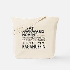 Awkward Ragamuffin Cat Designs Tote Bag