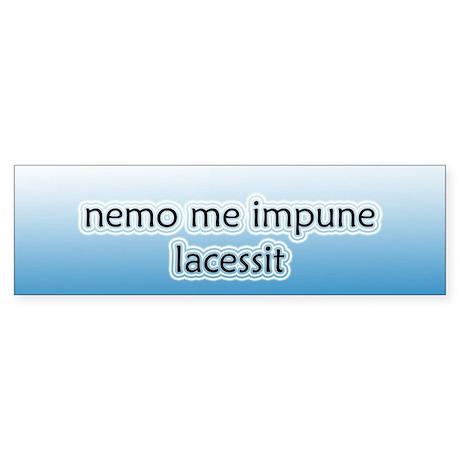 Nemo Me Impune Lacessit [Latin] Stickers (Bumper)