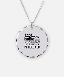 Awkward Peterbald Cat Design Necklace