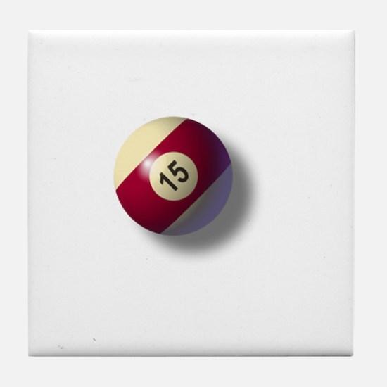 Billiard Ball 15 Tile Coaster