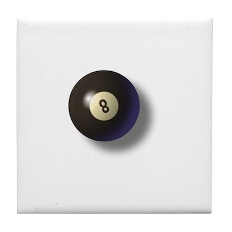 Billiard Ball 8 Tile Coaster