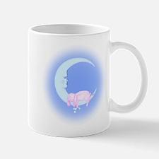 Pink Bunny Sleeping on the Moon Mug