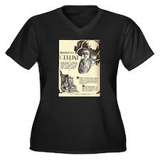 Biography writer Women's Plus Size V-Neck Dark T-Shirt