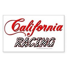California Racing Rectangle Decal
