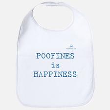 POOFINES is HAPPINESS Bib