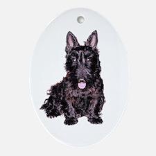 Scottish Terrier Black Oval Ornament