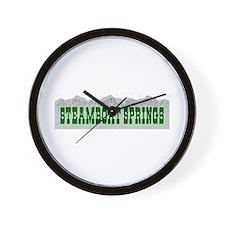 Steamboat Springs, Colorado Wall Clock