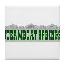 Steamboat Springs, Colorado Tile Coaster