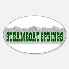 Steamboat Springs, Colorado Oval Decal