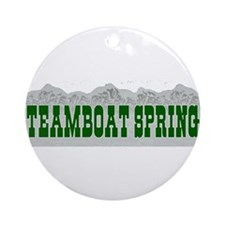 Steamboat Springs, Colorado Ornament (Round)