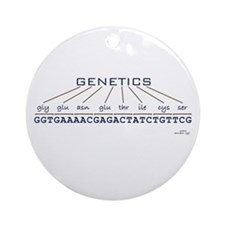 Genetics Ornament (Round)