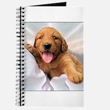 Happy Golden Retriever Puppy Journal