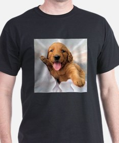 Happy Golden Retriever Puppy T-Shirt
