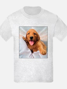 Happy Golden Retriever Puppy T-Shirt