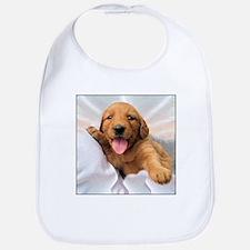 Happy Golden Retriever Puppy Bib