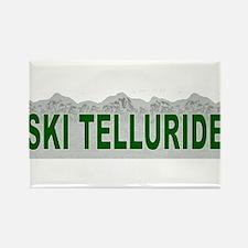 Ski Telluride Rectangle Magnet