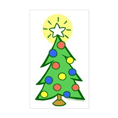 Christmas Tree Rectangle Decal