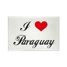 I Love Paraguay Rectangle Magnet