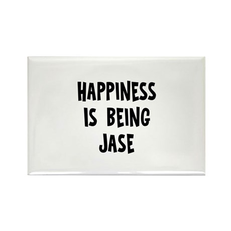 Happiness is being Jase Rectangle Magnet