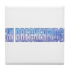 Ski Breckenridge Tile Coaster