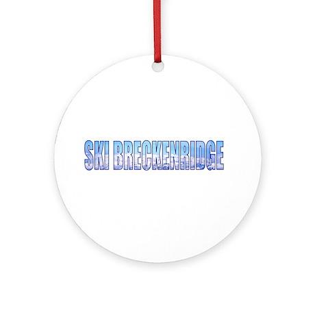 Ski Breckenridge Ornament (Round)