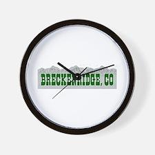 Breckenridge, Colorado Wall Clock