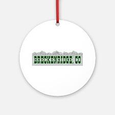 Breckenridge, Colorado Ornament (Round)