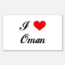 I Love Oman Rectangle Decal