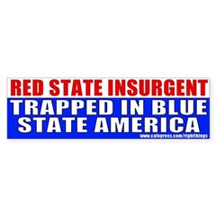 Red State Insurgent Bumper Bumper Sticker