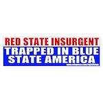 Red State Insurgent Bumper Sticker