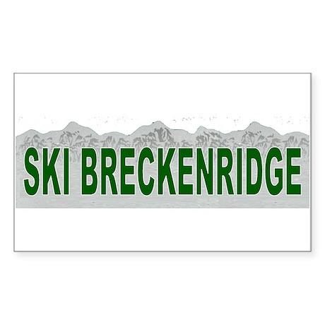 Ski Breckenridge Rectangle Sticker