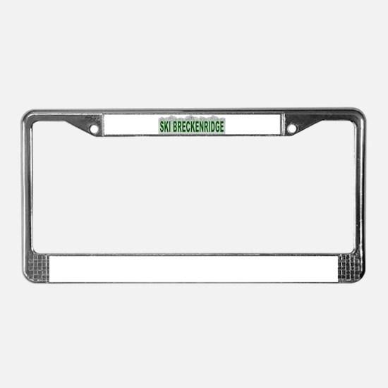 Ski Breckenridge License Plate Frame